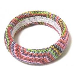 Women's fancy bracelet in multicolored cotton thread