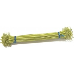 Pistachio Green Sabra Silk Napkin Rings (Set of 6)