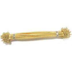 Satin Yellow Sabra Silk Napkin Rings (Set of 6)