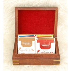 Assortment of herbal teas and herbal teas with 3 different models - Luxury wooden box...