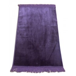 Large thick luxury rug plain purple color without patterns