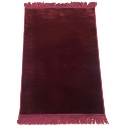 Luxury carpet Grand Confort (padded and ultra-comfortable) burgundy - No pattern
