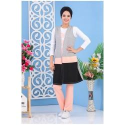ensemble 3 pièces sportswear de couleur blanc, rose, gris et noir