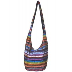 Ethnic shoulder bag in Moroccan Sabra fabric in multiple colors