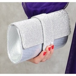 Evening clutch - Handbag for women - Silver color