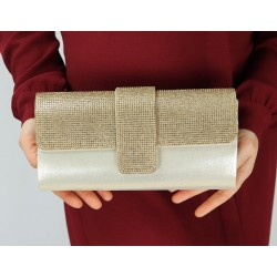 Evening clutch - Handbag for women - Gold color