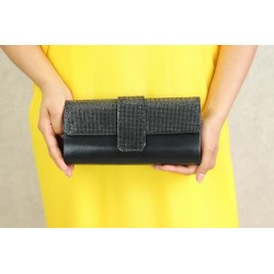 Evening pouch - Handbag for women - Black color