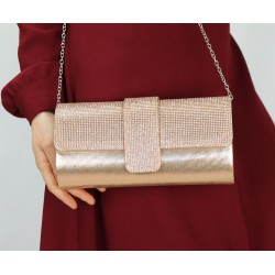Evening clutch - Women's handbag - Champagne color