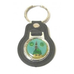 Keyring in the shape of a medallion bearing a representation of the Prophet's Mosque...