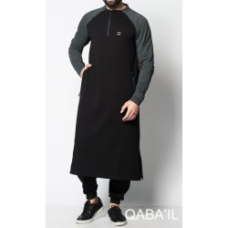 Qamis long LONGLINE H - Black and khaki