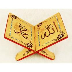 Traditional decorated wooden Koran door - Book Support (23 x 33 cm)