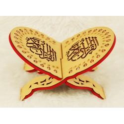 Traditional decorated wooden Koran door - Book support (40 x 30 cm)
