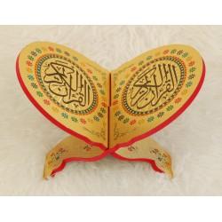 Traditional decorated wooden Koran door - Book Support (29 x 18.5 cm)