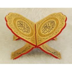 Traditional decorated wooden Koran door - Book support (33x22 cm)