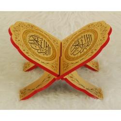 Traditional decorated wooden Koran door - Book Support (29 x 19 cm)