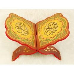 Traditional decorated wooden Koran door - Book Support (39 x 29 cm)