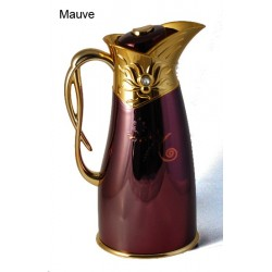 Metallic thermos (1L) with decorations