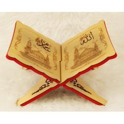 Traditional decorated wooden Koran door - Book Support (33×23 cm)
