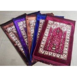 Thick and decorated luxury prayer rug (80 x 120 cm)