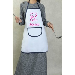 Large pocket kitchen apron customizable to your choice (first name / illustration) -...