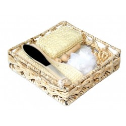 Large hamam and bath special basket with several elements