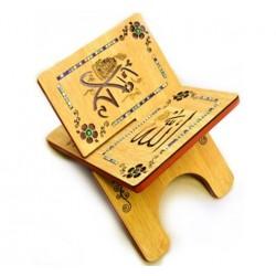 Traditional decorated wooden Koran door - Book support (30 x 40 cm)