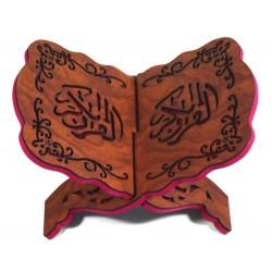 Traditional decorated wooden Koran door - Book support (30 x 20 cm)