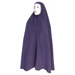 Large cape - Long prayer hijab for women - Eggplant color