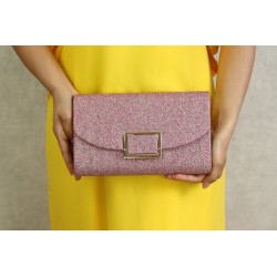 Women's handbag for evening, wedding and party - Old Pink Color