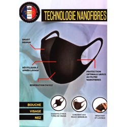 Nanofiber Technology Protective Mask (Mouth - Face - Nose) - Reusable - Easy Breathing...