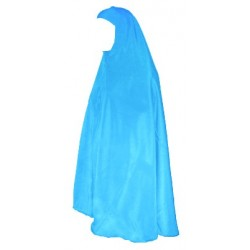 Large jilbab cape with sky blue cap