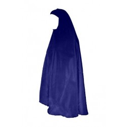 Grand Hijab - Large veiled women's cape - Navy Blue Color