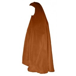 Large jilbab cape with brown cap