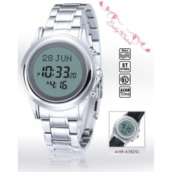Digital watch with prayer times (automatic calculation of prayer times) - Luxury model...