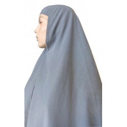 Large cape - Long prayer hijab for women - Gray color
