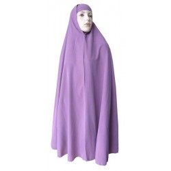 Large cape - Long hijab prayer for women - Purple color