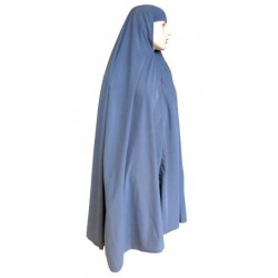 Large cape - Long prayer hijab for women - Anthracite gray color