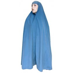 Large cape - Long prayer hijab for women - Color blue green