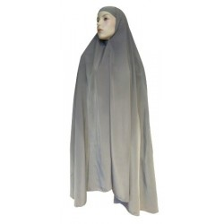 Large cape - Long prayer hijab for women - Taupe color