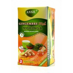 Instant drink with ginger, honey and moringa