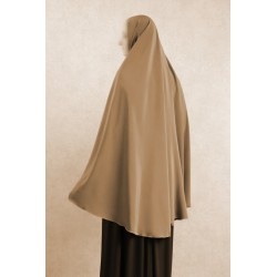 Large cape - Long hijab prayer for women - Dark taupe color