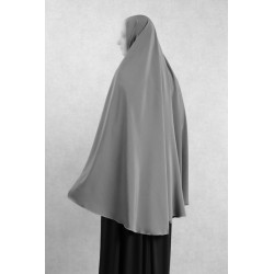 Large cape - Long prayer hijab for women - Grey color