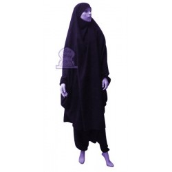 Jilbab two (2) pieces cape and harem pants (pants) - Color Midnight blue