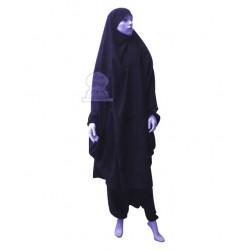 Jilbab two (2) pieces cape and harem pants (pants) - Color Navy blue