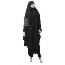 Jilbab two (2) pieces cape and harem pants (pants) - Color Dark gray