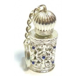 "Men's silver ""Silver Stars"" perfume keychain"