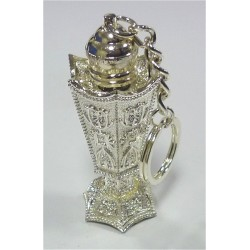 """Musc d'Or """"Bakhour"""" perfume - Silver keychain bottle - بخور"""