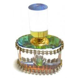 Bouteille de parfum en cristal avec parfum au choix