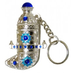 """Nassim"" perfume of Musk d'Or in silver key ring in the form of a Yemeni dagger (Janbiya)"