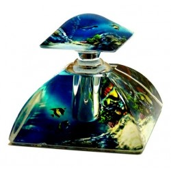 Linda perfume by Musc d'Or Paris - Crystal bottle in aquarium form